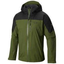 Mountain Hardwear Ampato Dry.Q® Elite Jacket - Waterproof (For Men) in Amphibian/Greenscape - Closeouts