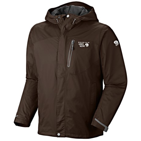 Mountain Hardwear Ampato Dry.Q Elite Jacket - Waterproof (For Men) in Elm/Duffel
