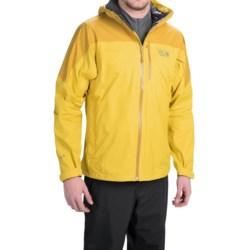 Mountain Hardwear Ampato Dry.Q® Elite Jacket - Waterproof (For Men) in Electron Yellow/Inca Gold