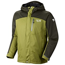 Mountain Hardwear Ampato Dry.Q Elite Jacket - Waterproof (For Men) in Sherwood/Sherwood