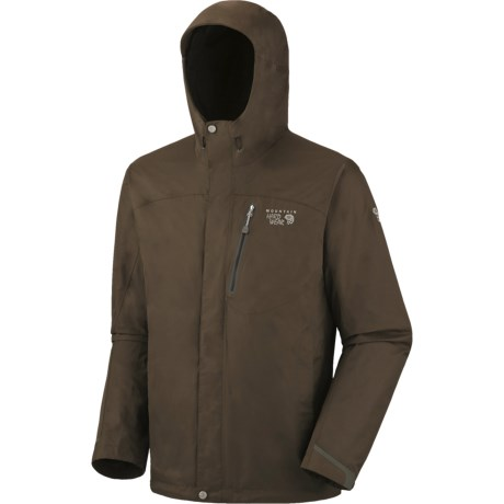 Mountain Hardwear Ampato Dry.Q Elite Jacket - Waterproof (For Men) in Titanium/Black
