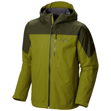Mountain Hardwear Ampato Dry.Q® Elite Jacket - Waterproof (For Men) in Python Green