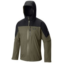 Mountain Hardwear Ampato Dry.Q® Elite Jacket - Waterproof (For Men) in Stone Green/Black - Closeouts