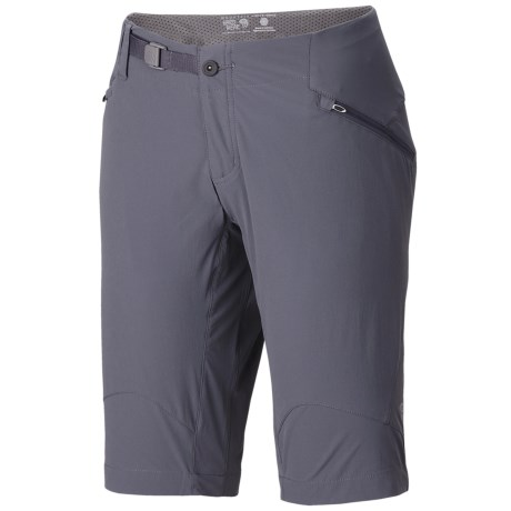 Mountain Hardwear Ancona Trek Shorts - UPF 25 (For Women) in Graphite
