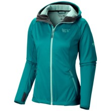 Mountain Hardwear Anselmo AirShield Core Hooded Jacket (For Women) in Emerald - Closeouts