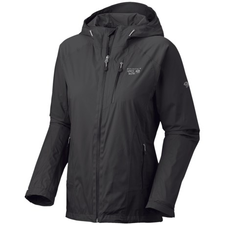 Mountain Hardwear Aquari Dry.Q Elite Jacket - Waterproof (For Women) in Black/Black