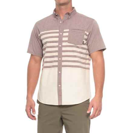 Mountain Hardwear Axton AC Shirt - UPF 30, Short Sleeve (For Men) in Cote Du Rhone - Closeouts