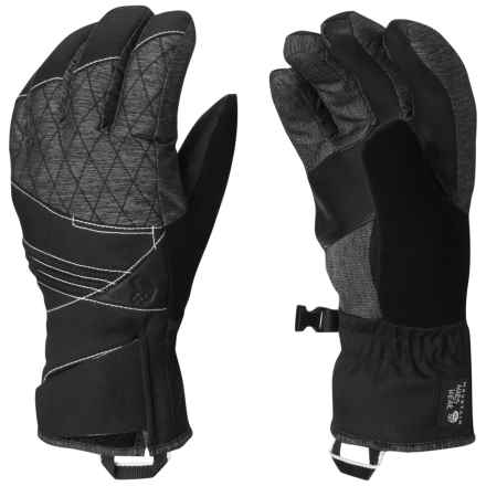 Mountain Hardwear Back for More Gloves - Waterproof, Insulated (For Women) in Heather Black - Closeouts