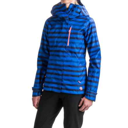 Mountain Hardwear Barnsie Ski Jacket - Waterproof, Insulated (For Women) in Bright Island Blue - Closeouts