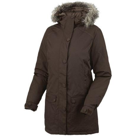 Mountain Hardwear Bay Village Dry.Q Core Down Coat - Waterproof, 650 Fill Power (For Women) in Bark