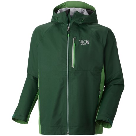 Mountain Hardwear Beacon Dry.Q® Elite Jacket - Waterproof (For Men) in Pine Tree/Kelly