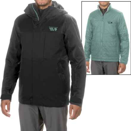 Mountain Hardwear Binx Ridge Quadfecta 3-in-1 Jacket - Waterproof, Insulated (For Men) in Black/Thunderhead Grey - Closeouts