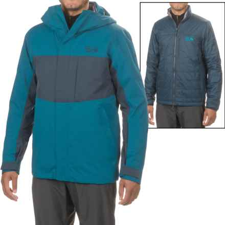 Mountain Hardwear Binx Ridge Quadfecta 3-in-1 Jacket - Waterproof, Insulated (For Men) in Phoenix Blue/Hardwear Navy - Closeouts