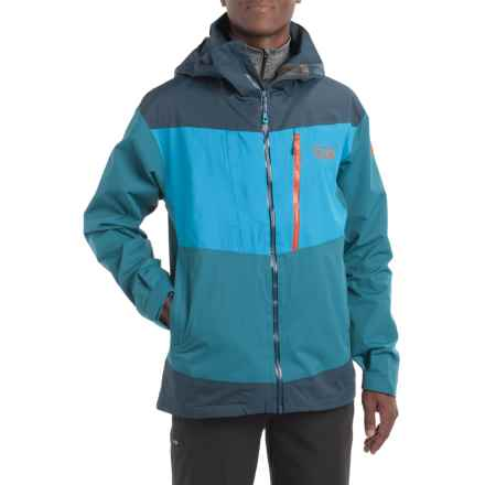 Mountain Hardwear Bootjack Dry.Q® Ski Jacket - Waterproof, Hooded (For Men) in Phoenix Blue/Hardwear Navy - Closeouts