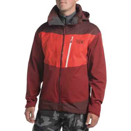 Mountain Hardwear Bootjack Dry.Q® Ski Jacket - Waterproof, Hooded (For Men) in Smolder Red/Redwood - Closeouts