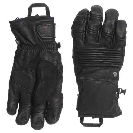 Mountain Hardwear BoundarySeeker Leather Gloves - Waterproof, Insulated, Touchscreen Compatible (For Men) in Black - Closeouts