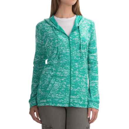 Mountain Hardwear Burned Out Hoodie - Zip Front (For Women) in Heather Glacier - Closeouts