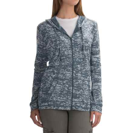 Mountain Hardwear Burned Out Hoodie - Zip Front (For Women) in Heather Zinc - Closeouts