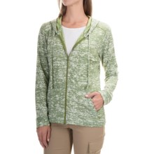 Mountain Hardwear Burned Out Hoodie - Zip Front (For Women) in Verde - Closeouts