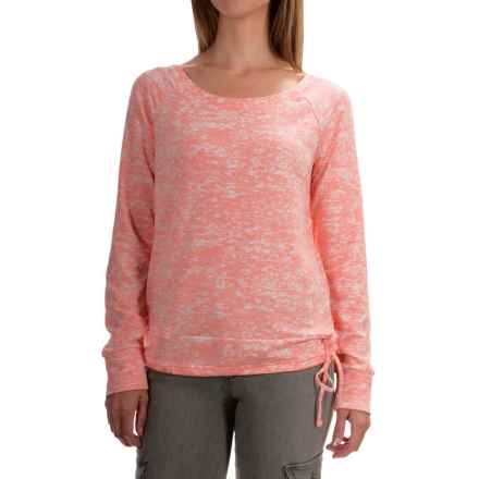 Mountain Hardwear Burnout Shirt - Long Sleeve (For Women) in Heather Coralescent - Closeouts