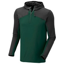 Mountain Hardwear Butter Man Hoodie Sweatshirt - Color-Block, UPF 50 (For Men) in Pine Tree - Closeouts