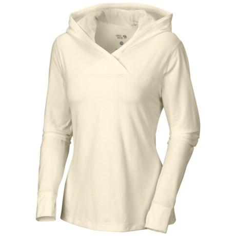 Mountain Hardwear Butter Topper Hooded Shirt - Long Sleeve (For Women) in Snow