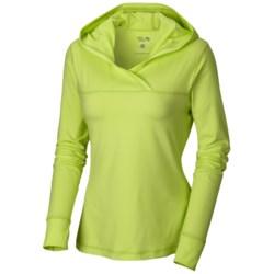 Mountain Hardwear Butter Topper Hooded Shirt - Long Sleeve (For Women) in Tippet