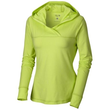 Mountain Hardwear Butter Topper Hooded Shirt - Long Sleeve (For Women) in Bright Rose