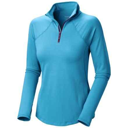 Mountain Hardwear Butter Zippity Shirt - UPF 50, Zip Neck, Long Sleeve (For Women) in Bounty Blue - Closeouts