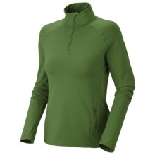 Mountain Hardwear Butter Zippity Shirt - UPF 50, Zip Neck, Long Sleeve (For Women) in Jungle - Closeouts