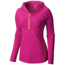Mountain Hardwear Butterlicious Hoodie (For Women) in Haute Pink - Closeouts