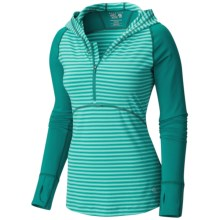 Mountain Hardwear Butterlicious Hoodie (For Women) in Teal Green - Closeouts