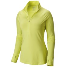 Mountain Hardwear Butterlicious Pullover Shirt - Zip Neck, Long Sleeve (For Women) in Bolt - Closeouts