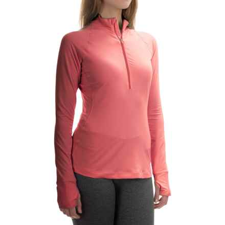 Mountain Hardwear Butterlicious Pullover Shirt - Zip Neck, Long Sleeve (For Women) in Paradise Pink - Closeouts