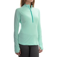 Mountain Hardwear Butterlicious Pullover Shirt - Zip Neck, Long Sleeve (For Women) in Sea Ice - Closeouts