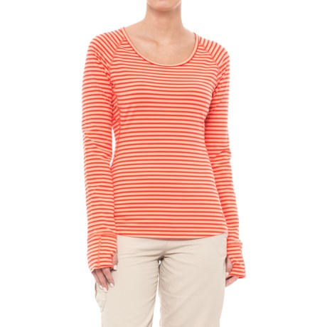 Mountain Hardwear Butterlicious Shirt - UPF 50, Long Sleeve (For Women) in Bright Ember