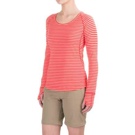 Mountain Hardwear Butterlicious Shirt - UPF 50, Long Sleeve (For Women) in Red Hibiscus - Closeouts