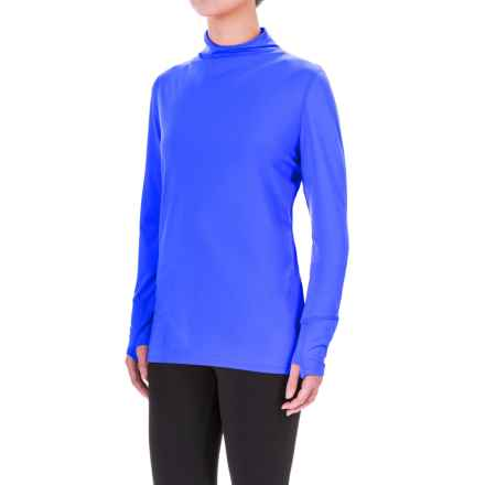 Mountain Hardwear Butterlicious Shirt - UPF 50, Mock Neck, Long Sleeve (For Women) in Bright Island Blue - Closeouts