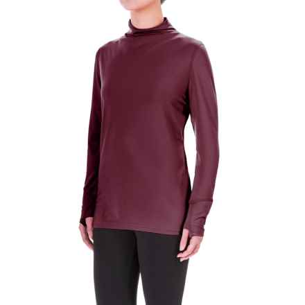 Mountain Hardwear Butterlicious Shirt - UPF 50, Mock Neck, Long Sleeve (For Women) in Marionberry - Closeouts