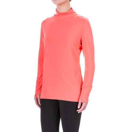 Mountain Hardwear Butterlicious Shirt - UPF 50, Mock Neck, Long Sleeve (For Women) in Paradise Pink - Closeouts