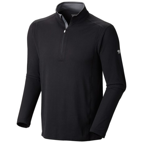 Mountain Hardwear Butterman Shirt - UPF 50, Zip Neck, Long Sleeve (For Men) in Black