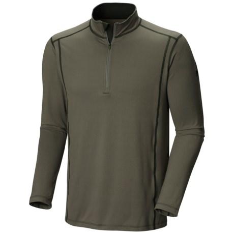 Mountain Hardwear Butterman Shirt - UPF 50, Zip Neck, Long Sleeve (For Men) in Stone Green