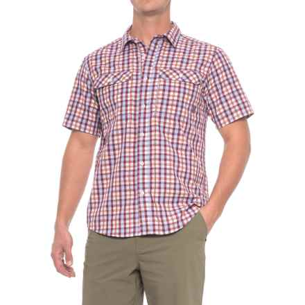 Mountain Hardwear Canyon AC Shirt - Short Sleeve (For Men) in Cote Du Rhone - Closeouts