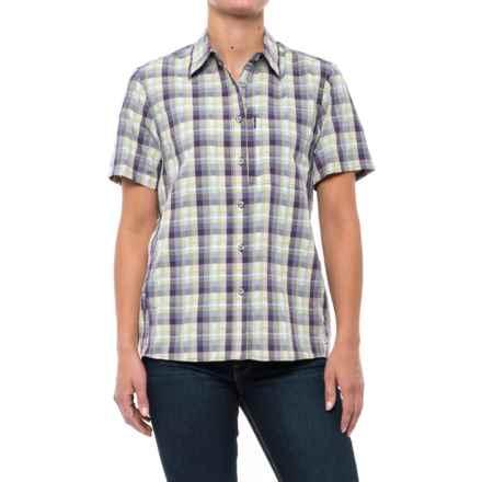 Mountain Hardwear Canyon AC Shirt - Short Sleeve (For Women) in Blurple - Closeouts