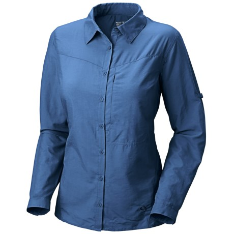 Mountain Hardwear Canyon Shirt - UPF 30, Long Sleeve  (For Women) in Impulse Blue