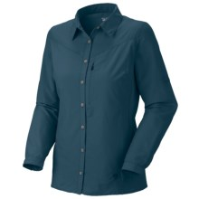 Mountain Hardwear Canyon Shirt - UPF 30, Long Sleeve  (For Women) in Prussian - Closeouts