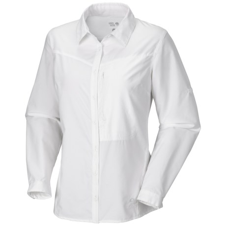 Mountain Hardwear Canyon Shirt - UPF 30, Long Sleeve  (For Women) in White
