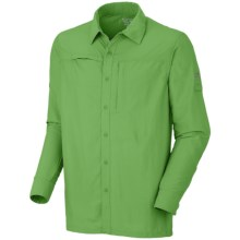 Mountain Hardwear Canyon Shirt - UPF 30, Roll-Up Long Sleeve (For Men) in Backcountry Green - Closeouts