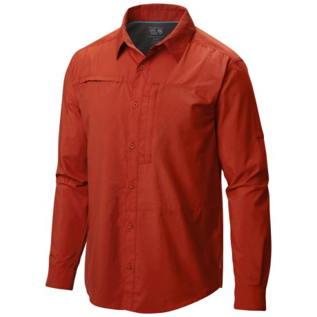 Mountain Hardwear Canyon Shirt - UPF 30, Roll-Up Long Sleeve (For Men) in Flame