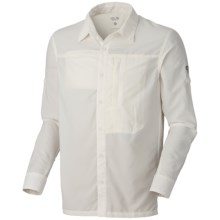 Mountain Hardwear Canyon Shirt - UPF 30, Roll-Up Long Sleeve (For Men) in Sea Salt - Closeouts
